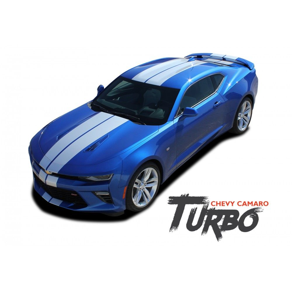 Chevy camaro turbo rally bumper to bumper indy style vinyl graphic racing stripes rally decals kit