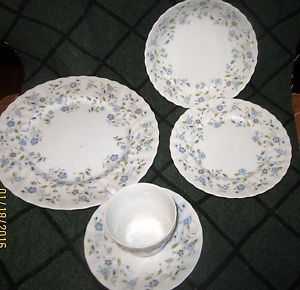 5 Piece Place Setting of Sonnet Fine China Dishes Leona 3740 | eBay
