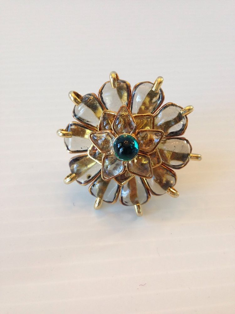 Tory Burch AUTHENTIC NWT Flower Petal Ring #ToryBurch