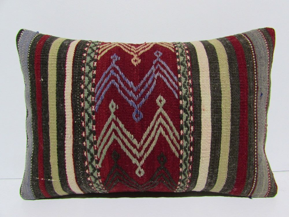 antique kilim pillow 16x24 extra large pillow case turkish cushion