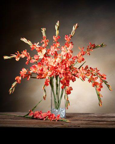 Gladiolus Silk Flower Stem Flame Gladiolus Flower Gladiolus Arrangements Artificial Flower Arrangements