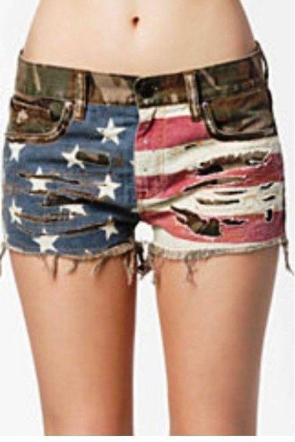 Denim & Supply Ralph Lauren Vintage American Flag Cut Off Camo ...
