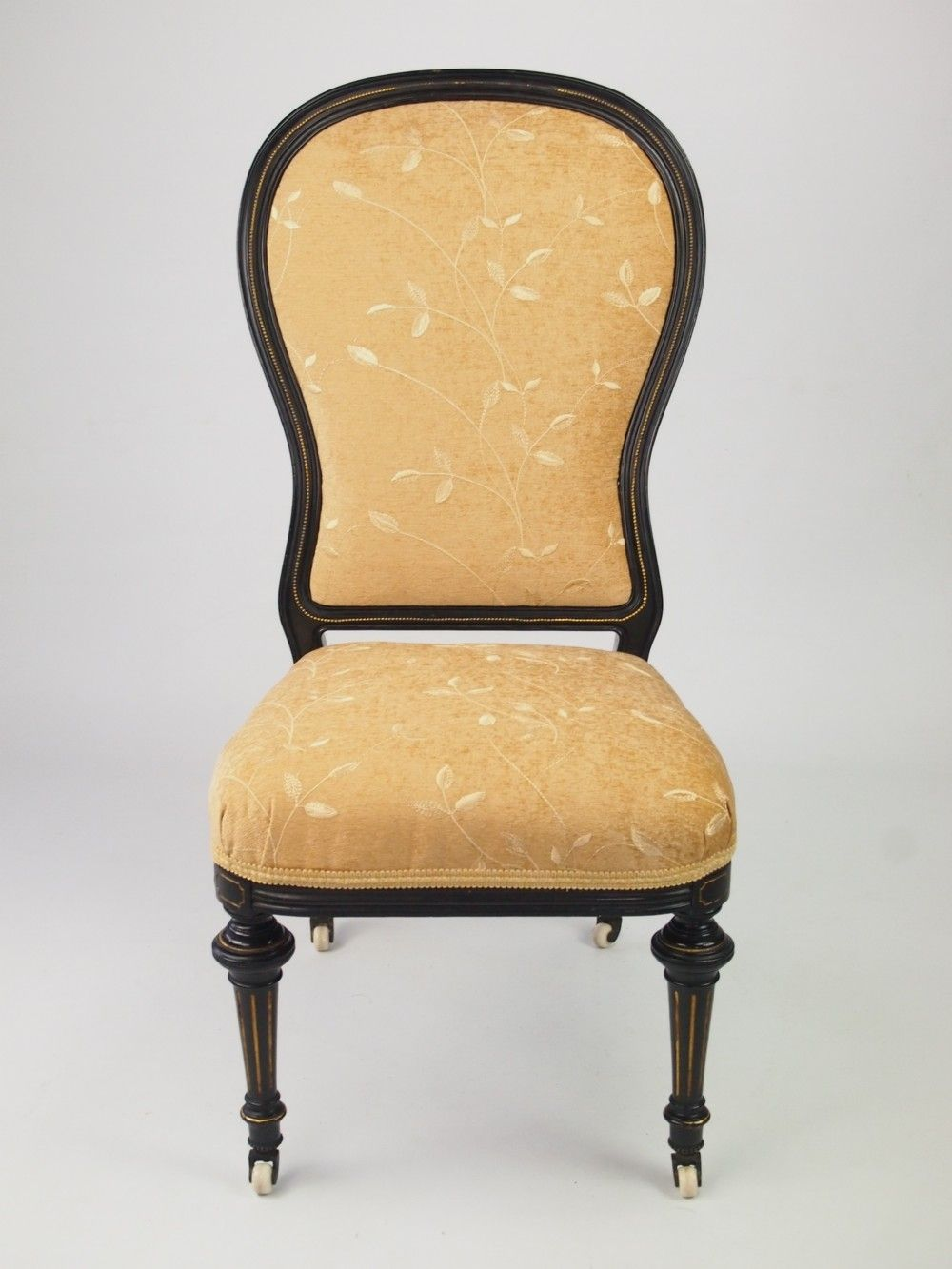 Antique Victorian Aesthetic Movement Balloon Back Chair / Nursing Chair - Antique Victorian Aesthetic Movement Balloon Back Chair / Nursing