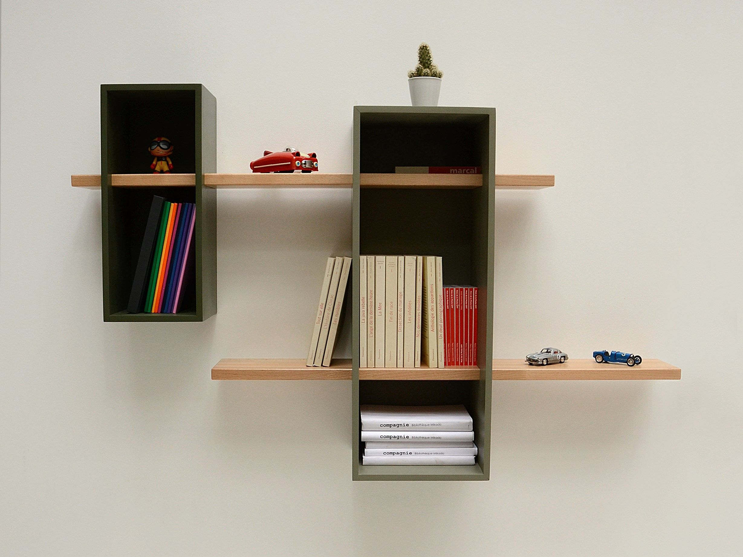 Wall Mounted Sectional Bookcase Max By Compagnie Design Olivier Chabaud