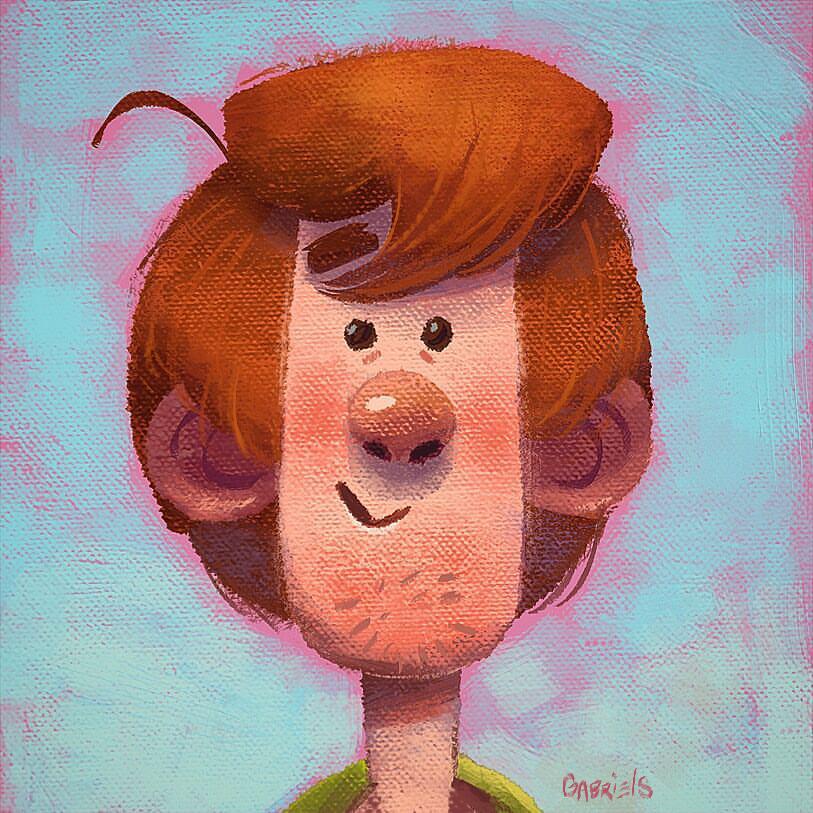 Pingl par jasper cameroon sur scooby doo pinterest dessin personnage de fiction et daphn - Personnage scooby doo ...