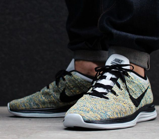new product 11bd9 5c842 Nike Flyknit Lunar1–Wolf Grey-Black-Laser Orange
