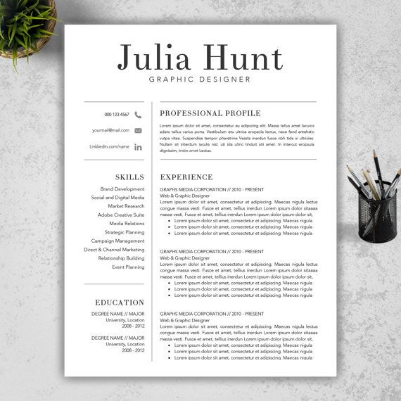 Teacher Resume Template CV Template and Cover by ResumeBook - professional cv template