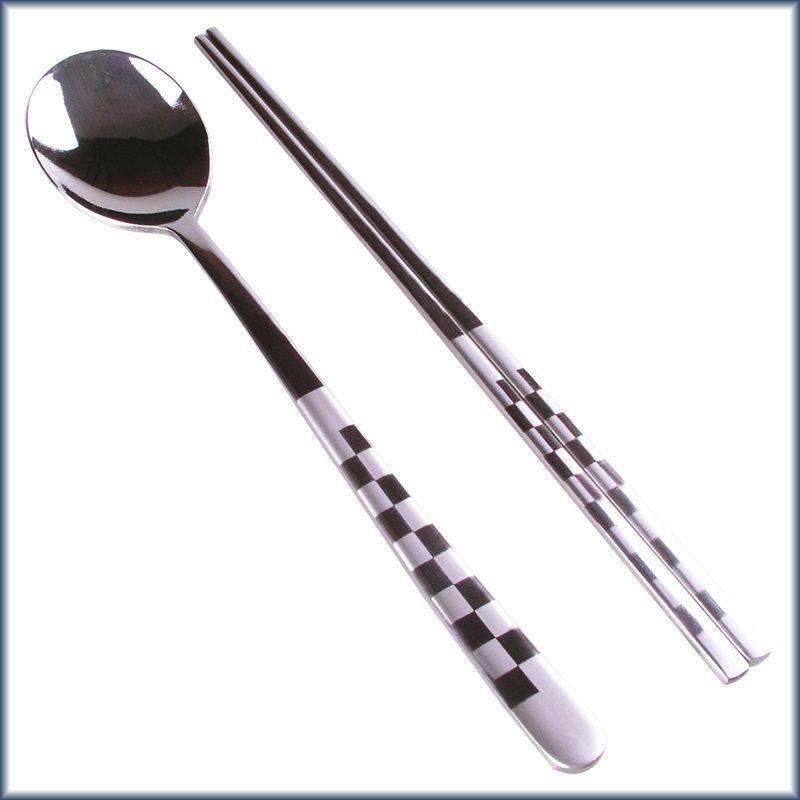 Korean Mosaic Stainless Steel Chopsticks Spoon Set Multi Adorable