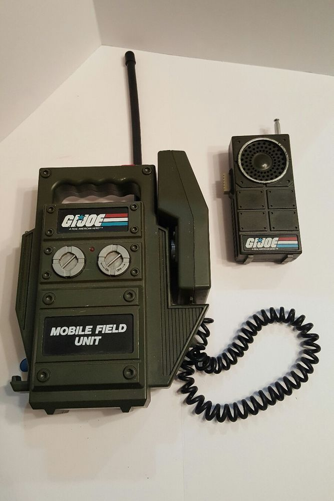 Rare 1982 Vintage G I Joe Walkie Talkie Collectable Toy Mobile