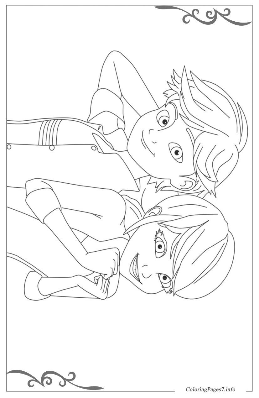 Miraculous: Tales of Ladybug & Cat Noir Free printable coloring
