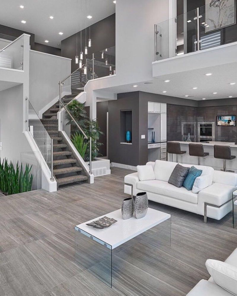 Home Interior Design Modern Luxury House Garden Pool View