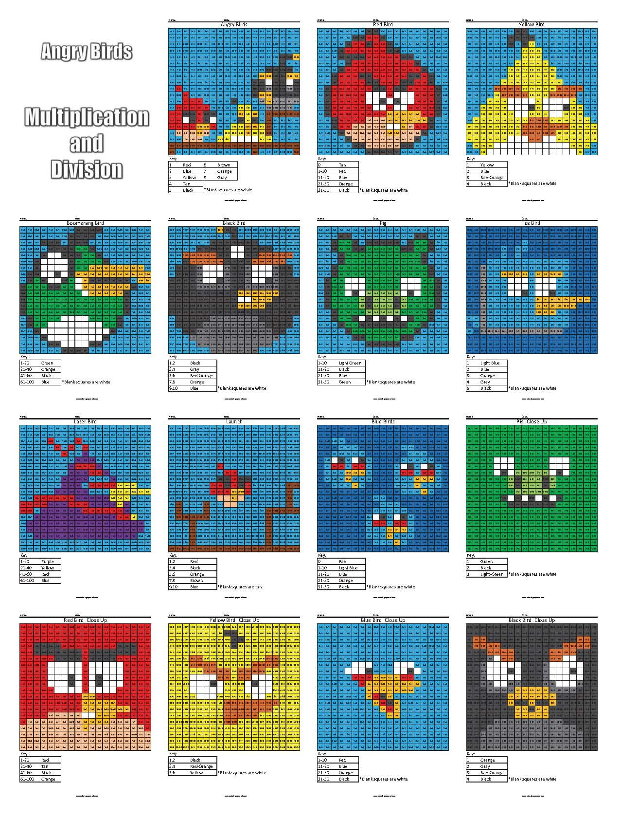 Angry Birds Multiplication And Division