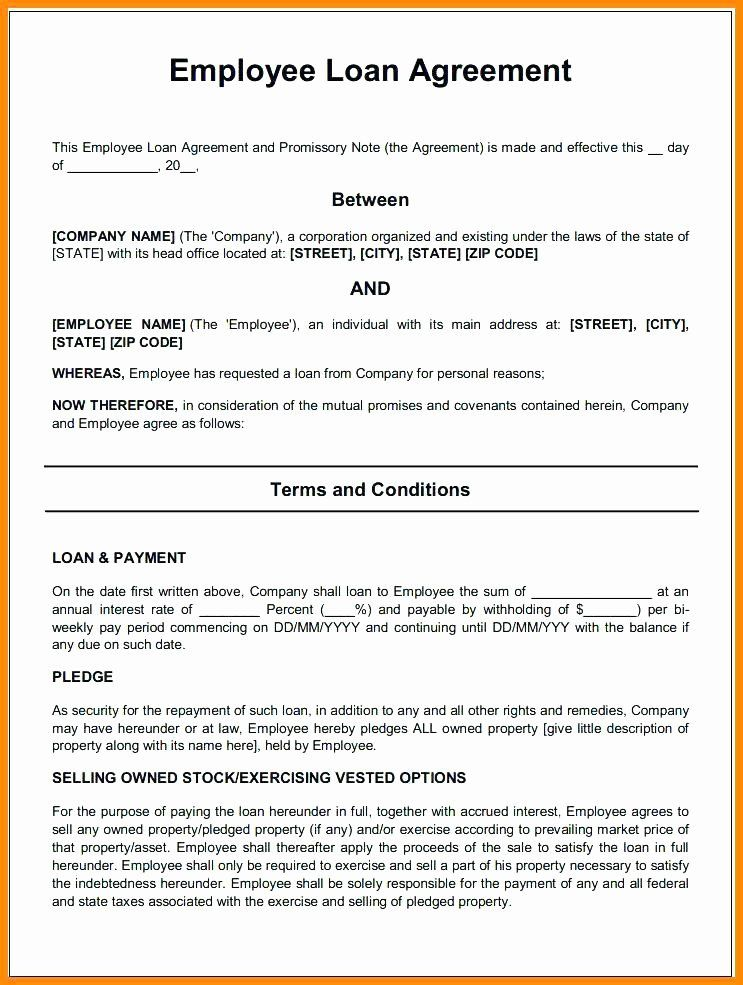 Template For Loan Contract Awesome Awesome Business Loan Document