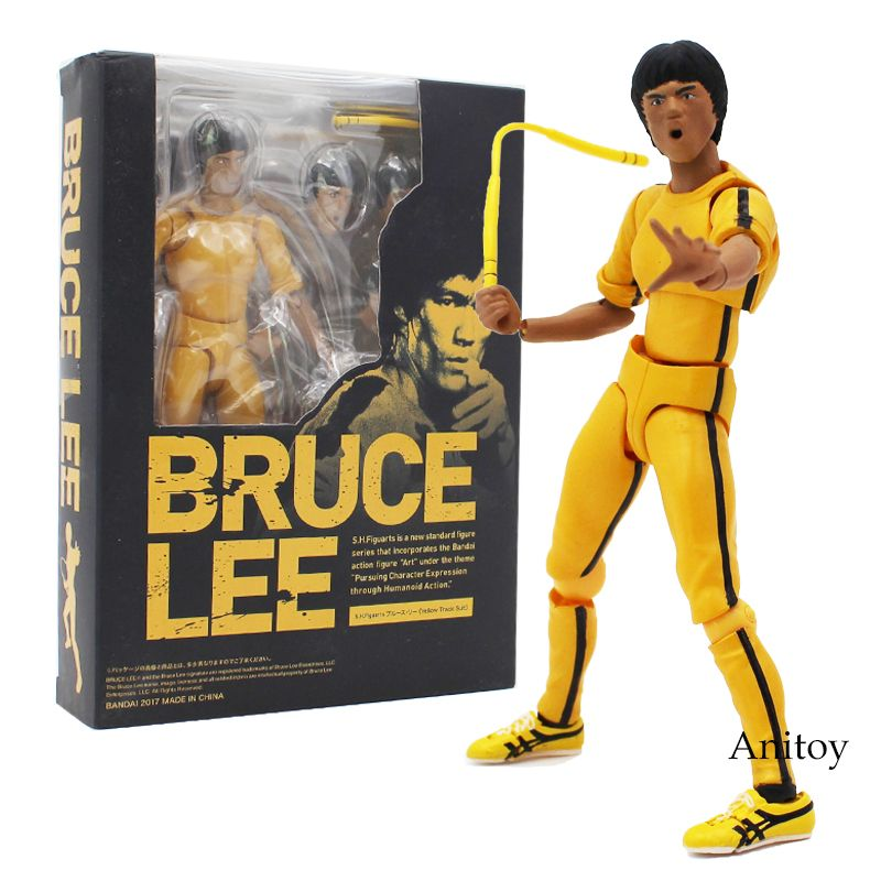 S.H.Figuarts Bruce Lee Yellow Track Suit Action Figure New in box Kids Xmas Gift