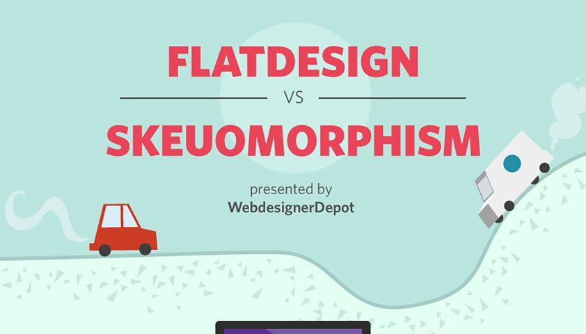 Infographic: Flat design vs. skeuomorphism   Webdesigner Depot