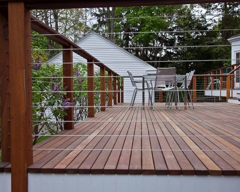 Contemporary Wire Patio Fencing Ideas On The Deck Patio