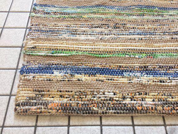 Scandinavian Striped Bath Mat Natural