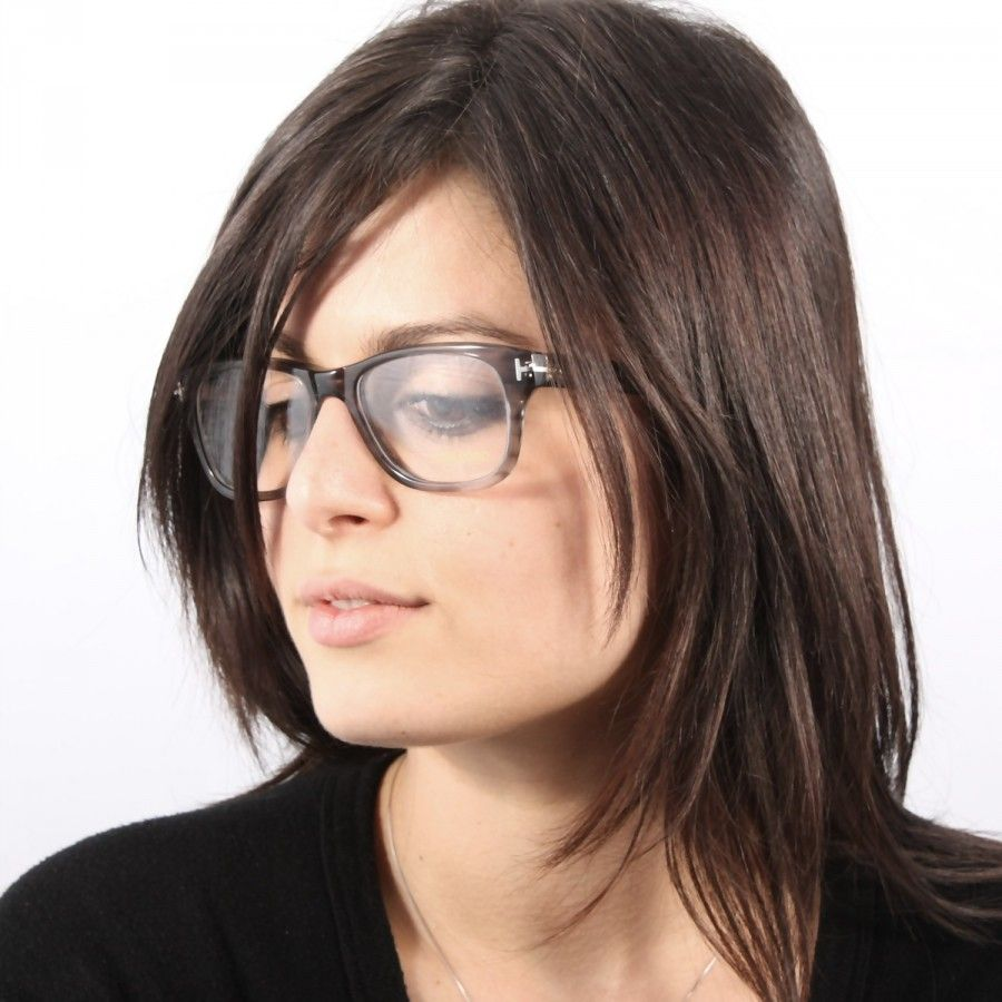 bb8dc89f58 Eye glasses - Frames Tom Ford TF 5147 020 Grey transparent. Nice look. Great  haircolour too!