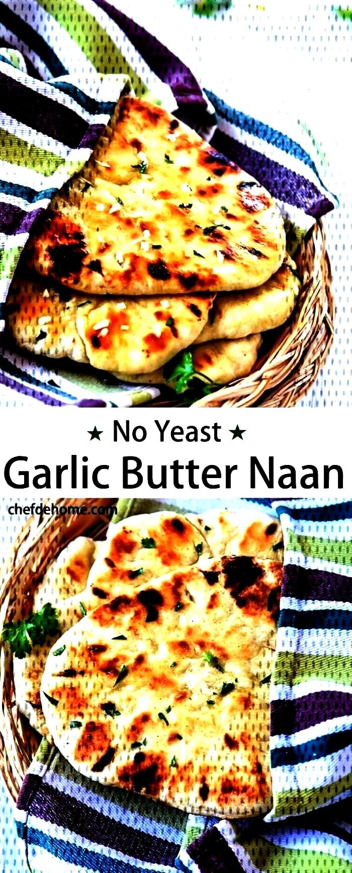 Garlic Naan Bread without...Instant Indian Garlic Naan Bread without...Indian Garlic Naan Bread wit