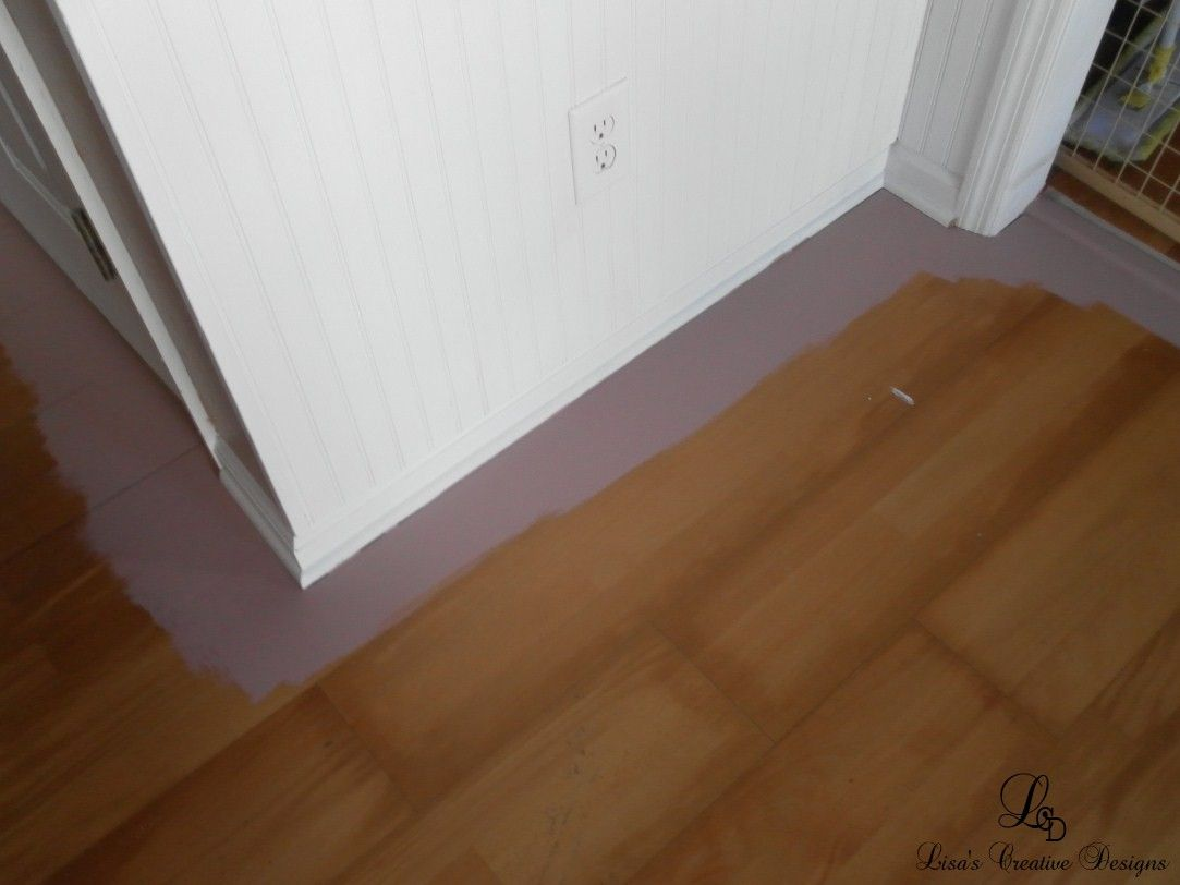Yes You Can Paint An Old Laminate Floor Laminate Flooring