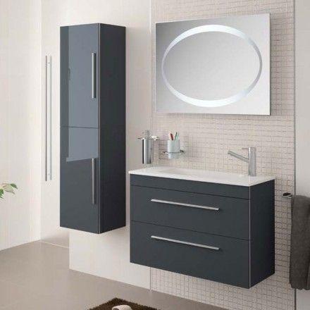 35 cm de profondeur Meuble salle de bain 80 cm, 2 tiroirs, plan ...