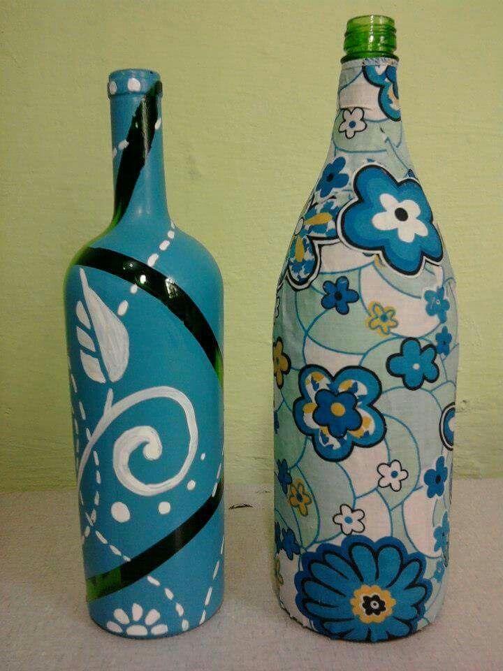 Bottle Painting Garrafa decorada Garrafa decorada