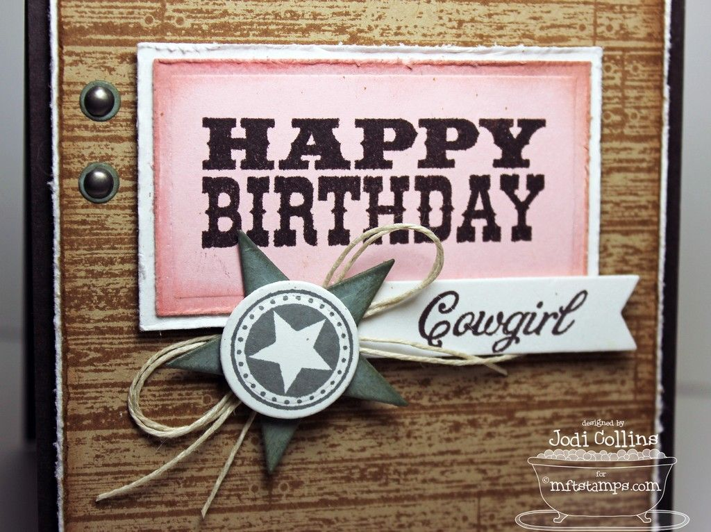 Happy Birthday Cowgirl Happy Birthday Cowgirl Card Making