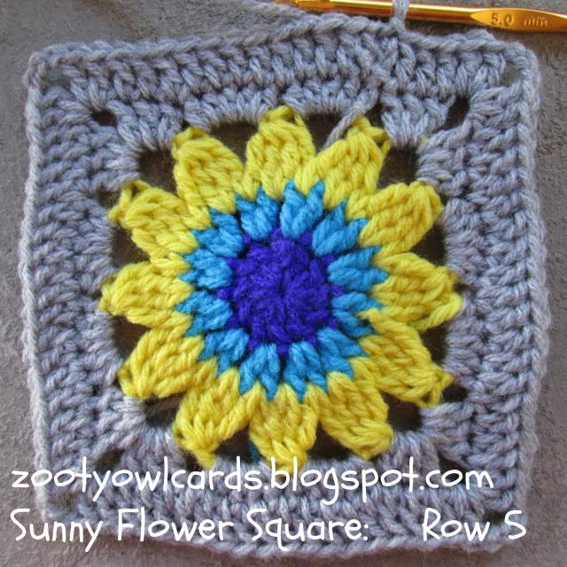 Sunflower Granny Square | κροσε | Pinterest | Square, Garn und Muster
