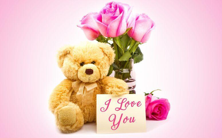 Resultado de imagem para bear flowers and letter