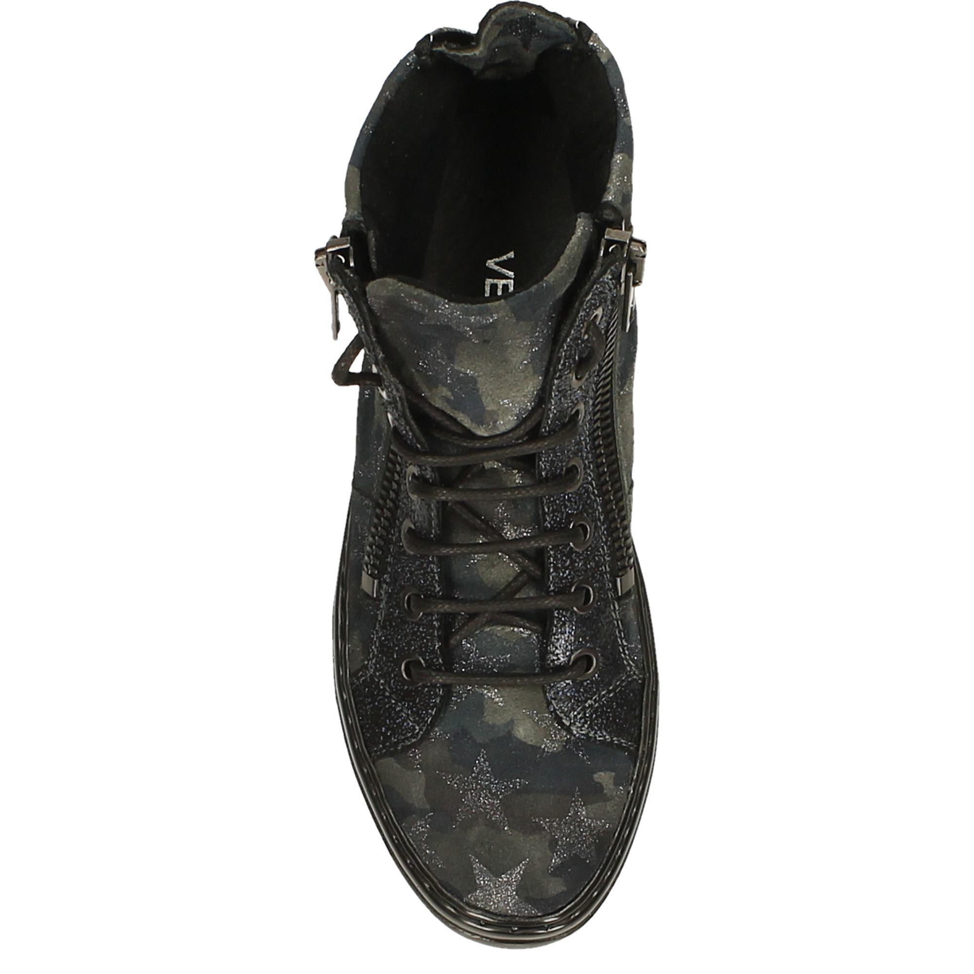 Botki Skorzane Venezia Pl Skora Zamszowa Wielobarwna Moro 2 Black Sneaker All Black Sneakers Sneakers