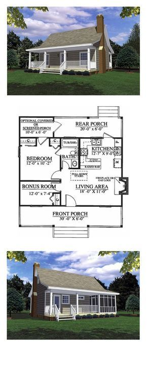 Country Style Cool House Plan Id Chp 16791 Total Living Area 600 Sq Ft 1 Bedroom 1 Bathroom H Cheap House Plans Best House Plans Cheap Houses To Build