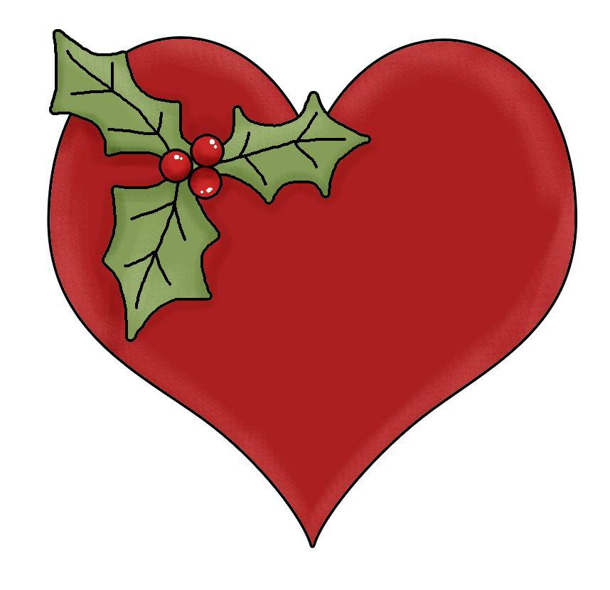 Christmas Heart Clip Art Christmas Hearts Free Christmas Printables Heart Clip Art
