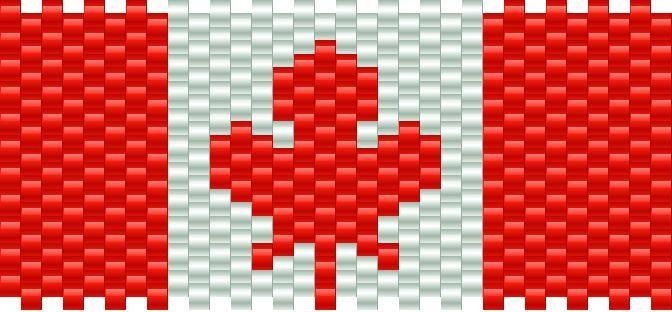 Canadian Flag Kandi Pattern   crafts   Pinterest