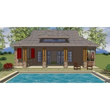 House plan oes ph 186a beach coastal for Craftsman beach cottage house plans