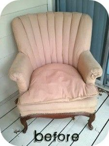diy reupholstering a chair.