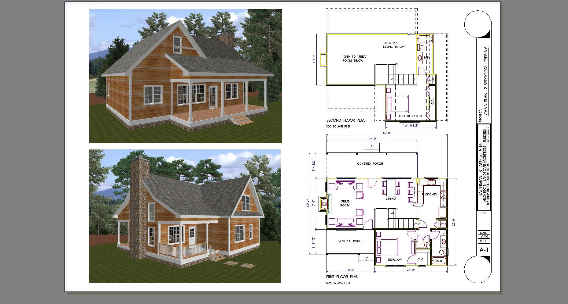 Small 2 bed 1bath with loft floor plans two bedroom for Cabin house plans with photos