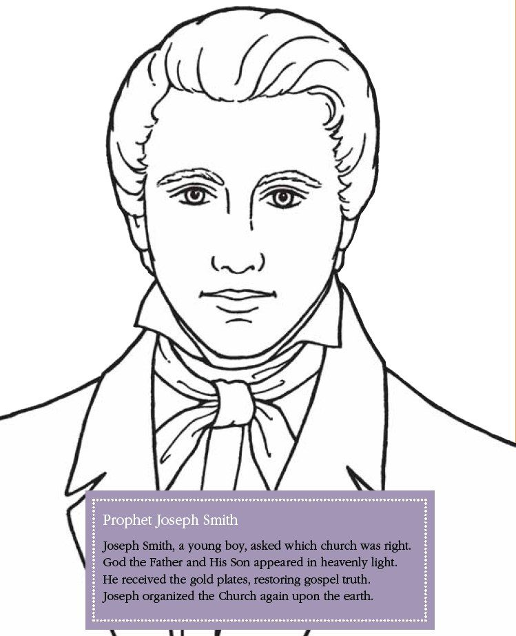 LDS Games - Color Time - Joseph Smith | Lds coloring pages ...