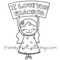 Happy Fathers Day Grandpa Coloring Pages Printable