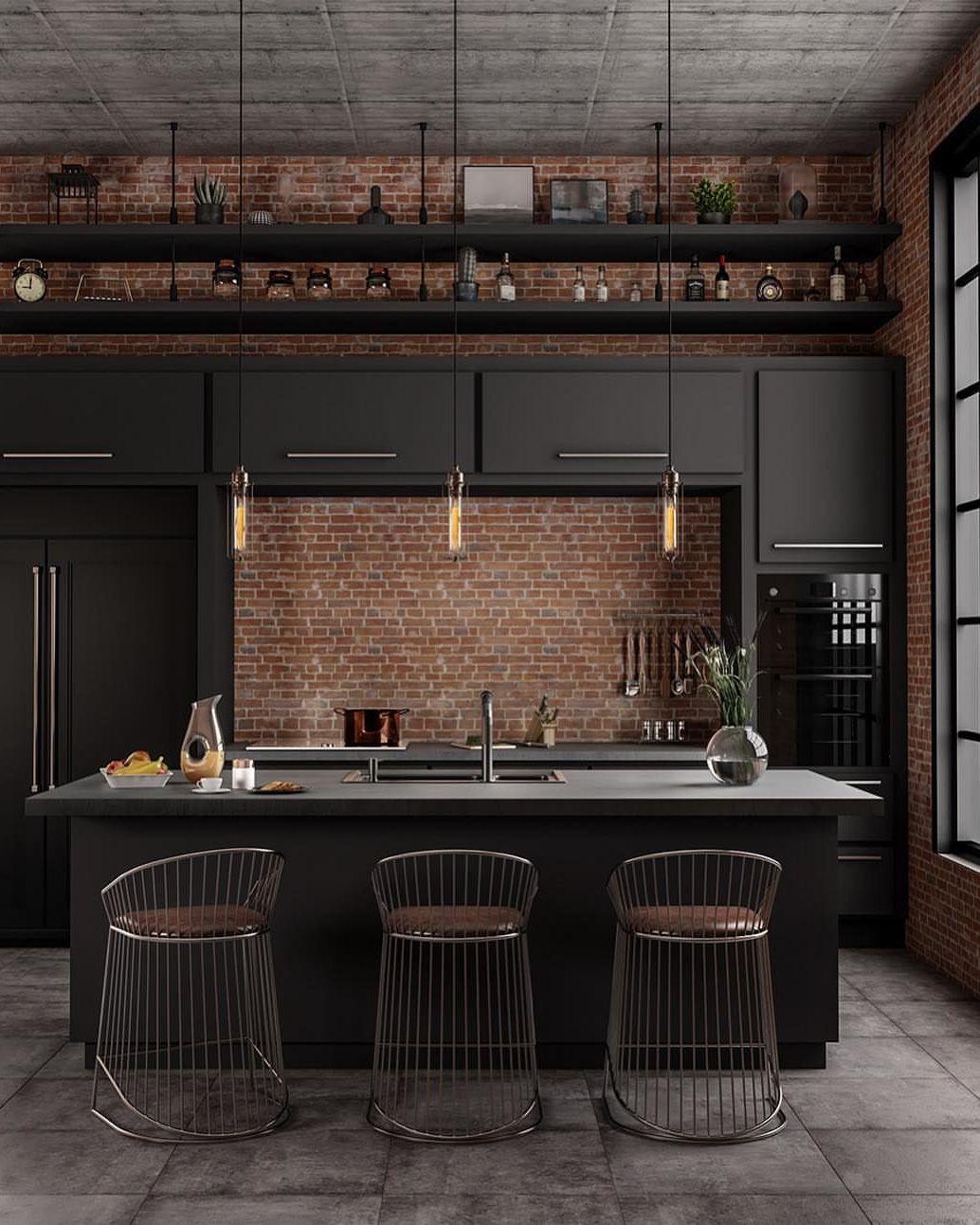 Industrial style kitchen, It's dark, modern and stylish In love ...
