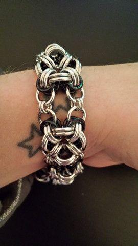 BLack and silver  square bracelet