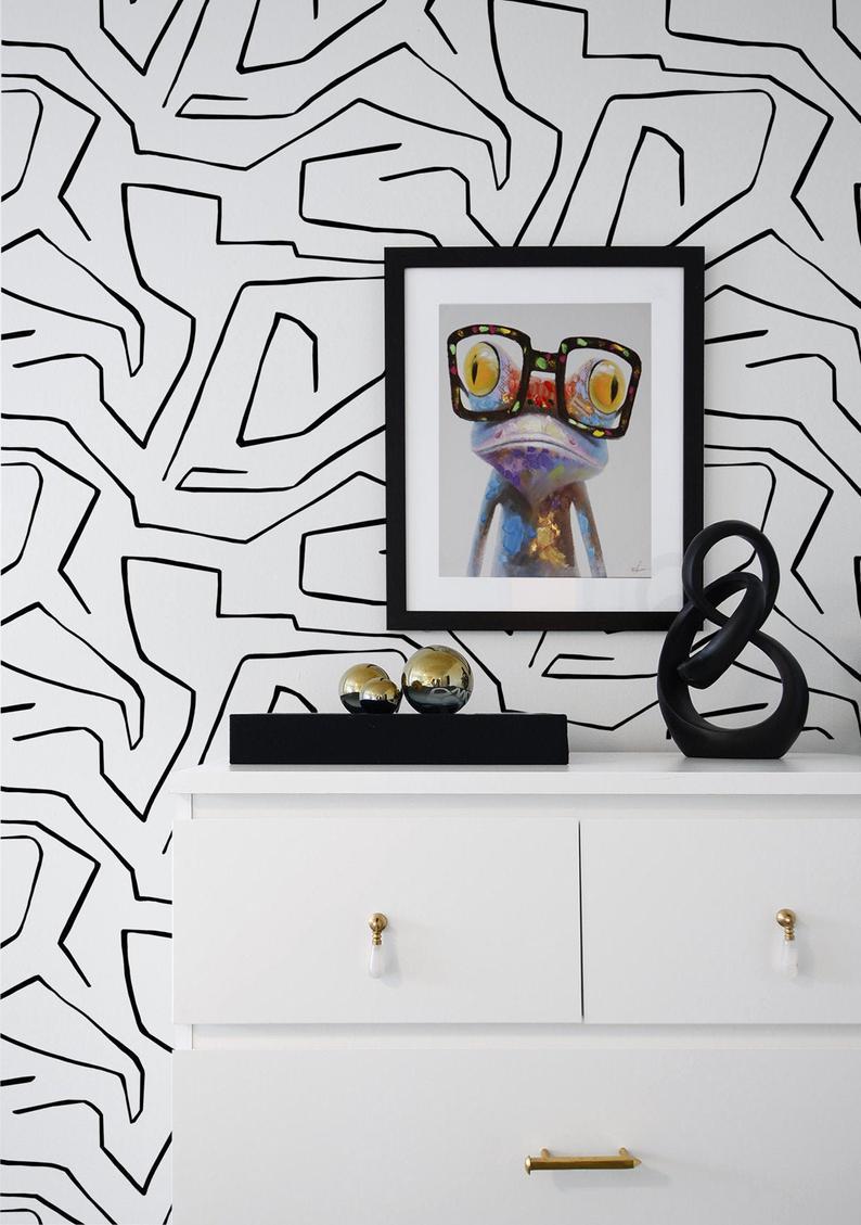 Peel And Stick Wallpaper Self Adhesive Wallpaper Abstract Etsy Peel And Stick Wallpaper Self Adhesive Wallpaper Temporary Wallpaper