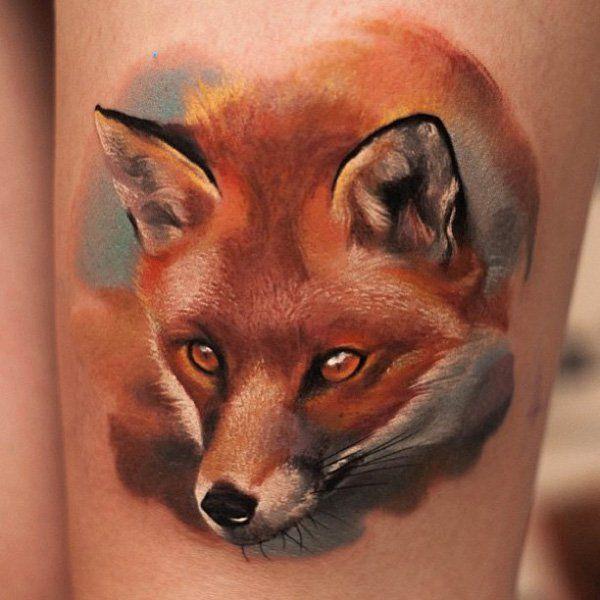 50 Examples Of Fox Tattoo Watercolor Fox Tattoos Fox Tattoo Fox Tattoo Design