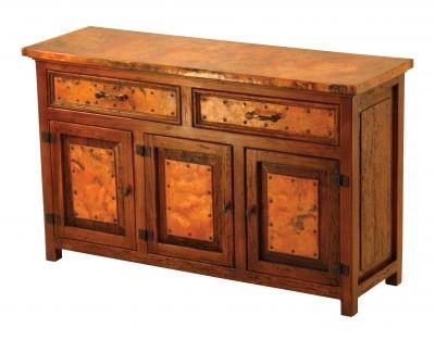 2 Drawer/3 Door Copper Buffet | Copper Decor |