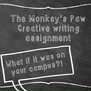 Monkeyu0027s Paw Writing Prompt Prompts, Rubrics And Writing Prompts   Unt  Blackboard  Unt Blackboard