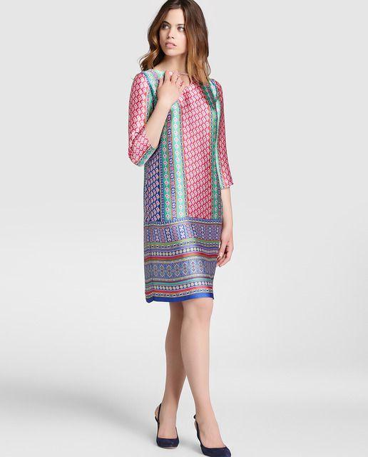 57acffef0 Vestido tipo túnica de mujer Antea estampado pañuelo