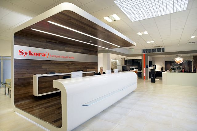 Reception module. | Interior design of showroom in Sykora Home ...