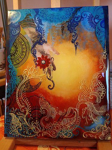 Henna art in resin