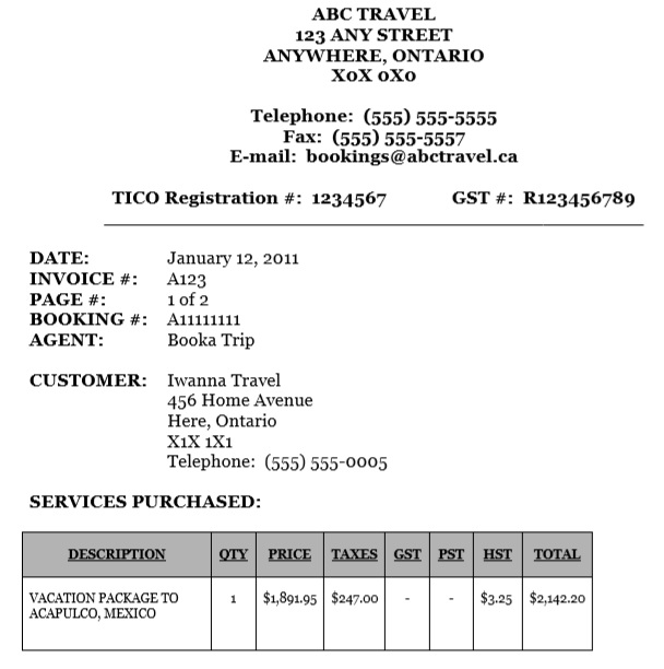 Sample Of Travel Agency Form Template Pdf In 2019 Travel