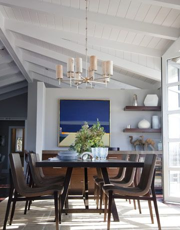 Dining Room with Siren chairs by Holly Hunt