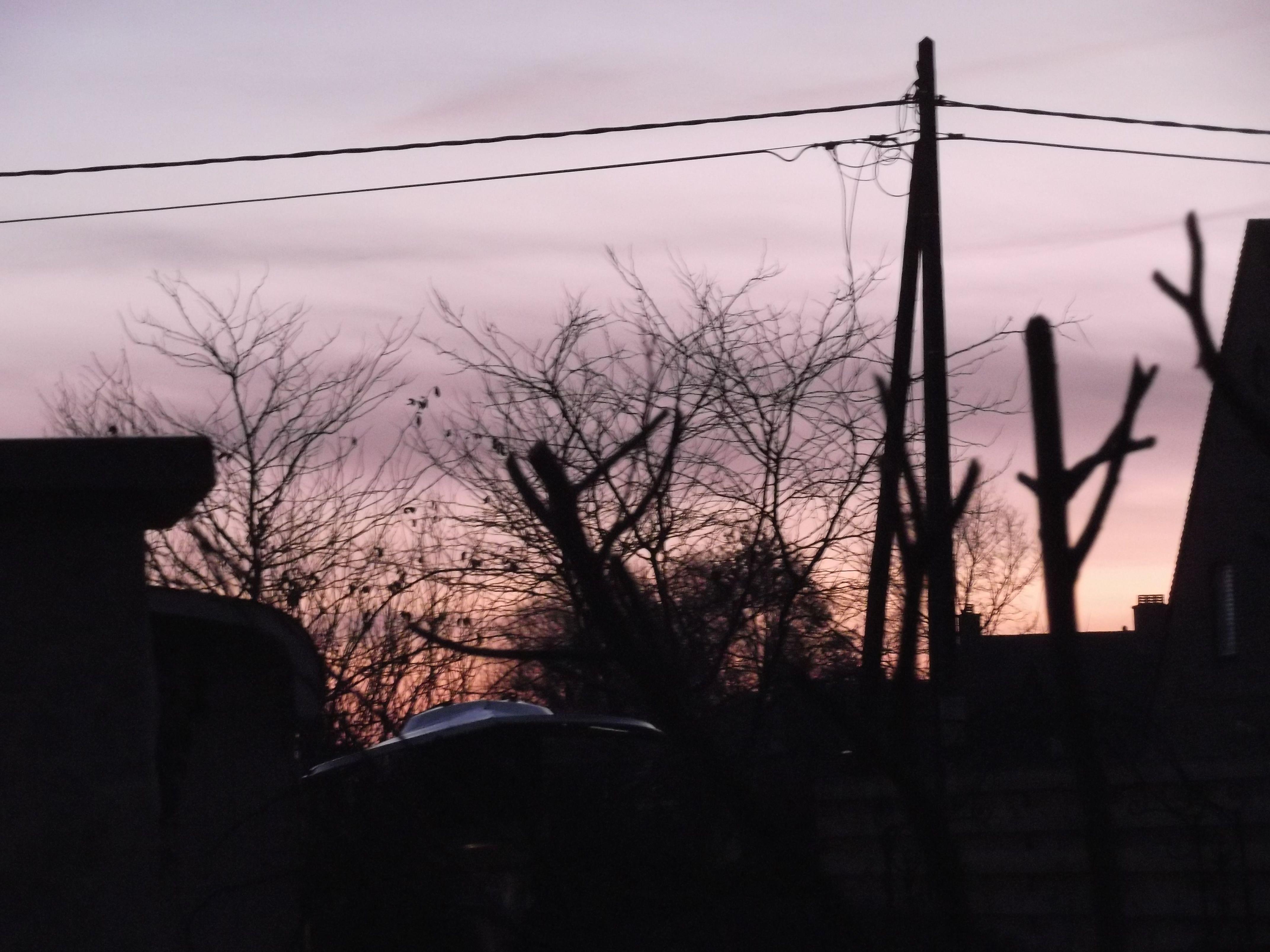 16 feb 2015 : zonsopgang en tegelijk zag ik de maan....mooi !